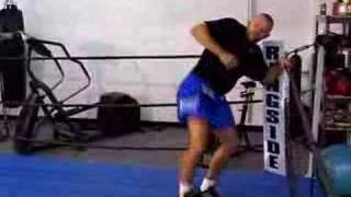 Chuck Liddell working out with Heavy Airs shoes
