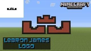 Minecraft: Pixel Art Tutorial: LeBron James Logo (Nike)
