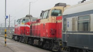Finland: 2x VR Class Dv12 locomotives on passenger service H443 at Seinajoki & Vassa (Ostrobothnia)
