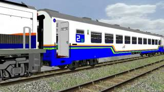 OpenBve Indonesia KA Bisnis-Ekonomi,Stasiun Kemrajen,rute Kroya-Karanganyar