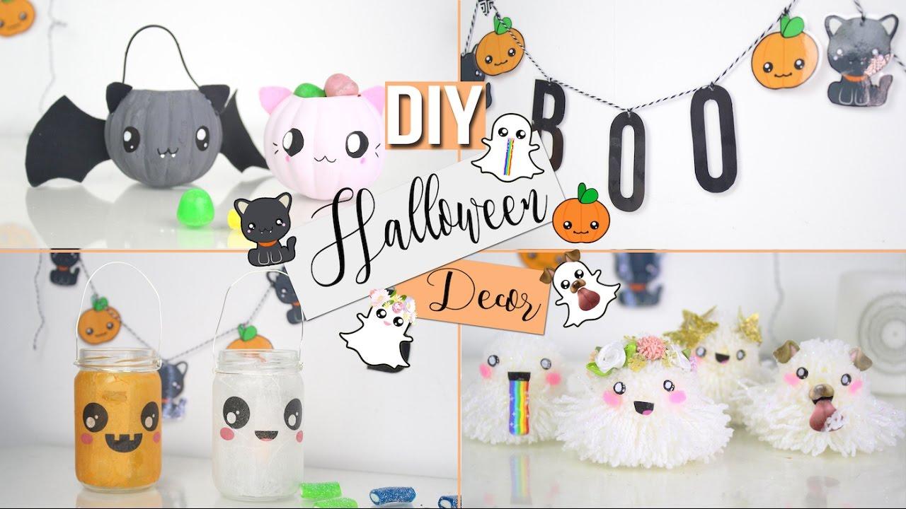 diy halloween deco snapchat kawaii decor francais youtube. Black Bedroom Furniture Sets. Home Design Ideas