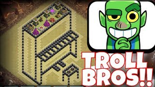 "IS IT A PIANO OR A TABLE!?! ""Clash Of Clans"" TROLL BROTHERS WAR!!"
