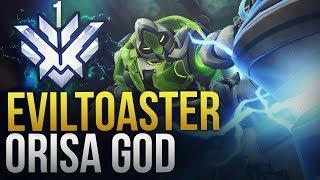 EvilToaster - RANK 1 WORLD ORISA - NA TANK GOD - Overwatch Montage