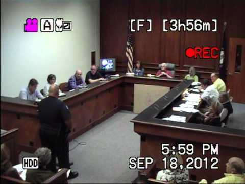 2012-09-18 Mt. Sterling, KY City Council Meeting - (Part 2 of 5)