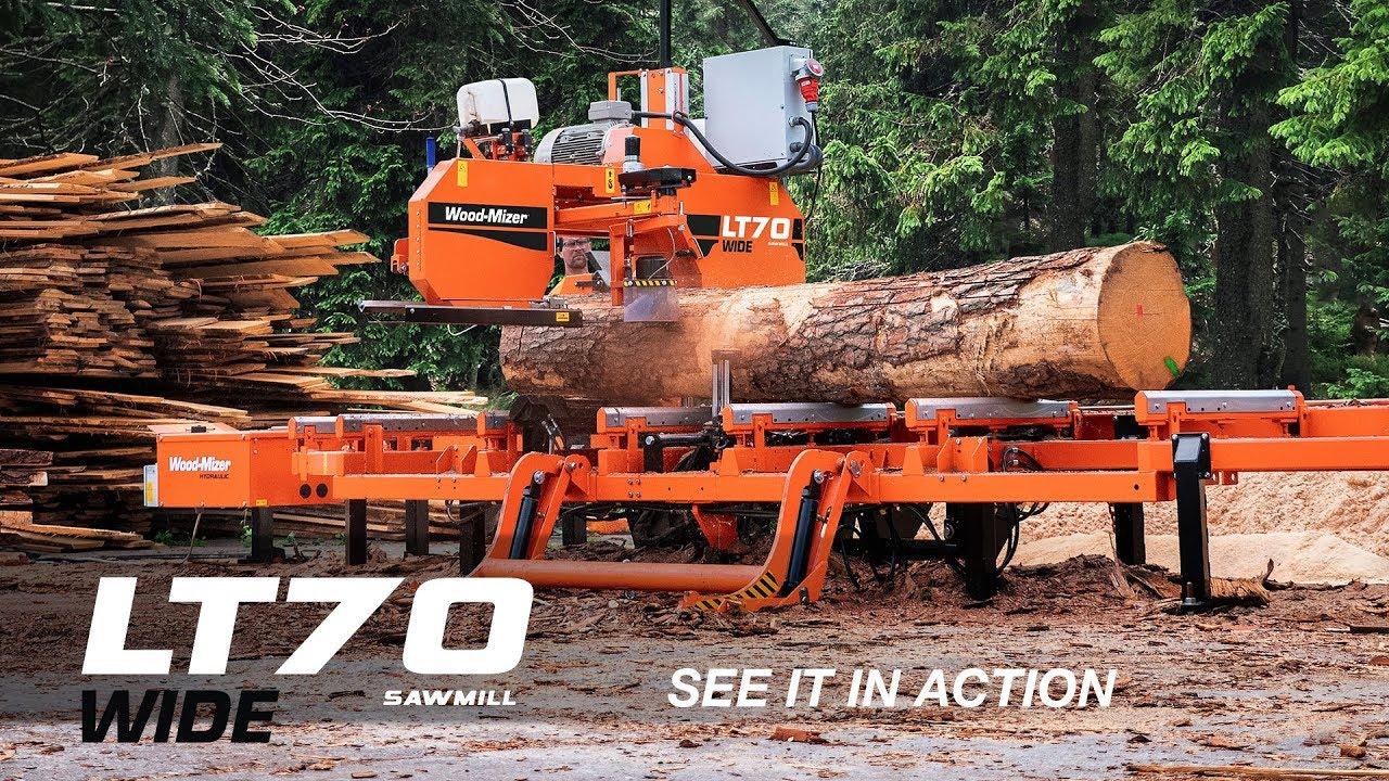 kuuma myynti sulavalinjainen Amazon LT70 WIDE Stationary Sawmill in Action   Wood-Mizer Europe