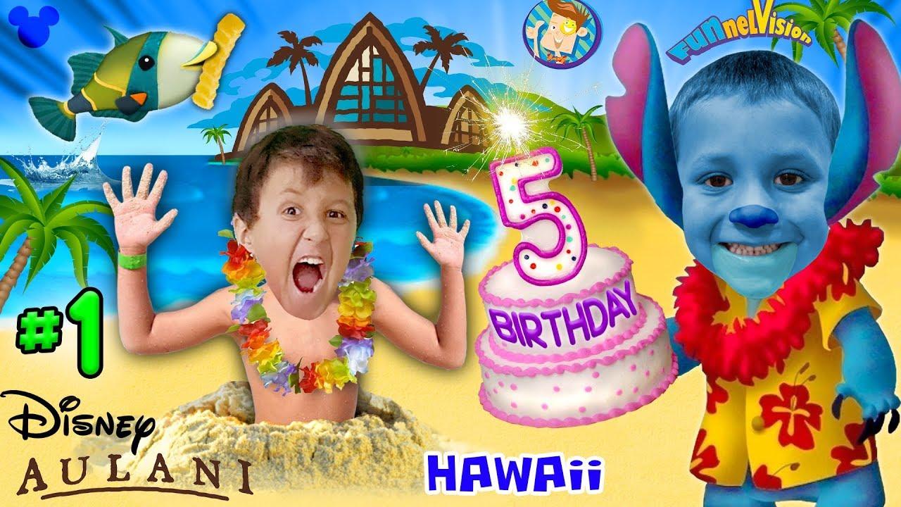 CHASE'S 5th BIRTHDAY in HAWAII! Disney Aulani Resort Activities FUNnel V Fam Trip Honolulu Par