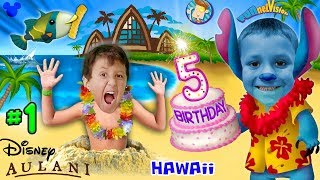 CHASE'S 5th BIRTHDAY in HAWAII! Disney Aulani Resort Activities FUNnel V Fam Trip Honolulu Par