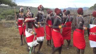Bachelor dance, Samburu village, Kenya