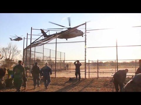 Troops Getting Onto CH-53E Super Stallion - 26th MEU Hurricane Sandy Response | AiirSource