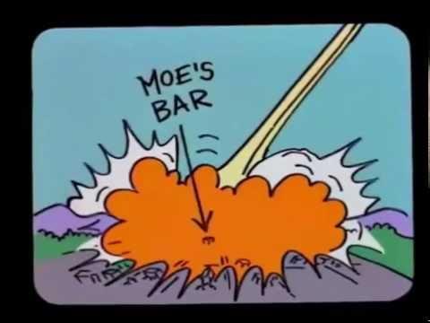 El cometa caeria en la taberna de Moe - Los Simpson