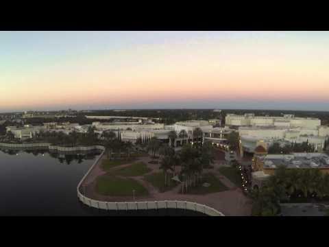 Raw Phantom footage: mall at Palm Beach Gardens, day time