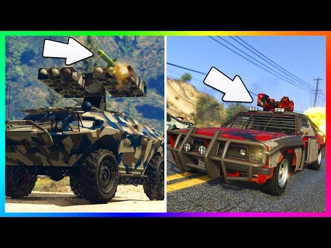 GTA ONLINE GUNRUNNING DLC HIDDEN DETAILS/SECRET FEATURES - NEW VEHICLE UPGRADES, WEAPON MODS & MORE!