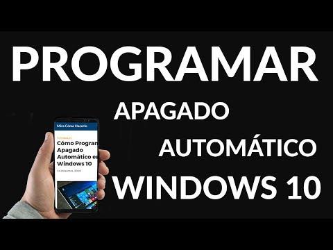 Cómo Programar Apagado Automático Windows 10