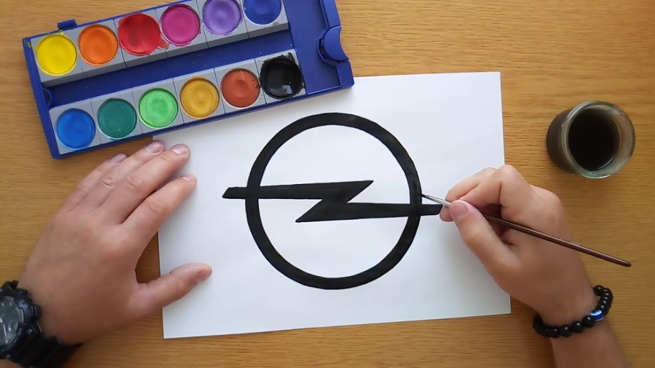 How to draw the Opel logo
