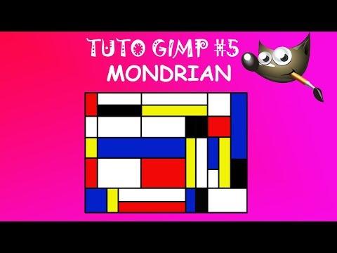 Mondrian avec Gimp
