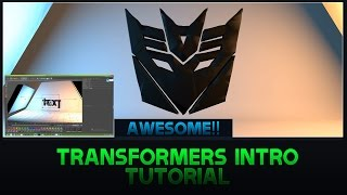 Best Transformers Intro Tutorial | Best Effect | Cinema 4D & Photoshop