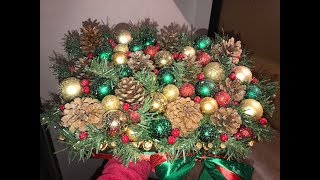 Новогодняя композиция.  Рождественский декор.DIY