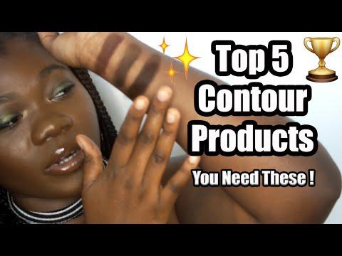 BEST CONTOUR PRODUCTS FOR DEEP DARK SKIN | Affordable Contour Powder, Cream, Palettes, etc (TOP 5) thumbnail