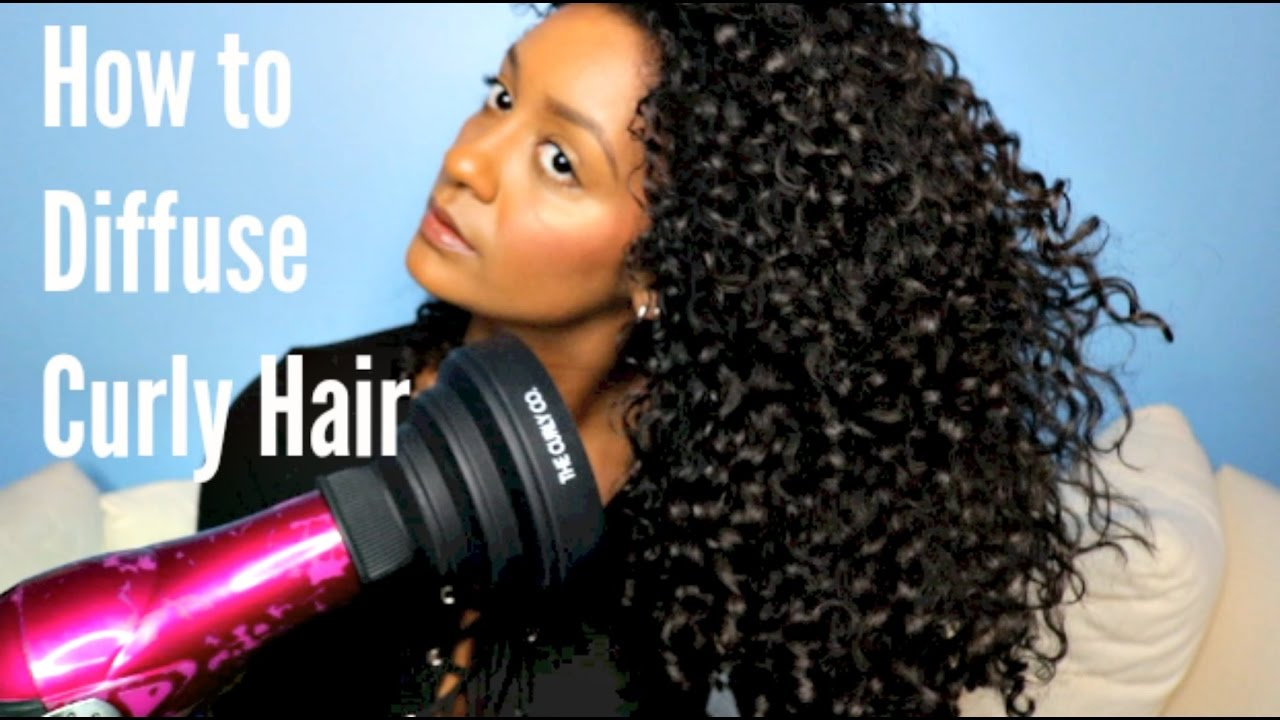 How To Diffuse Naturally Curly Hair The Co Diffuser Review Demo You