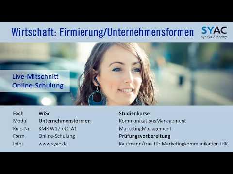 Wirtschaft » Firmierung Bei Unternehmensformen Und Rechtsformen   SYAC.DE