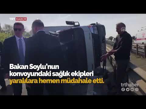 Bakan Süleyman Soylu kazazedelerle yakından ilgilendi.