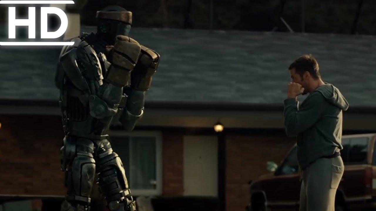 Çelik Yumruklar | Charlie Atom'a Eğitim Veriyor | Film Klipleri