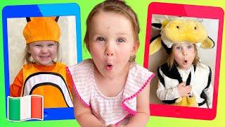 Cinque Bambini Sfida Immagini magiche Canzoni per bambini