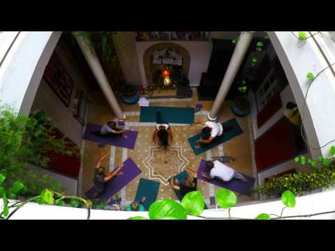 Yoga Session in Moroccan riad 2016