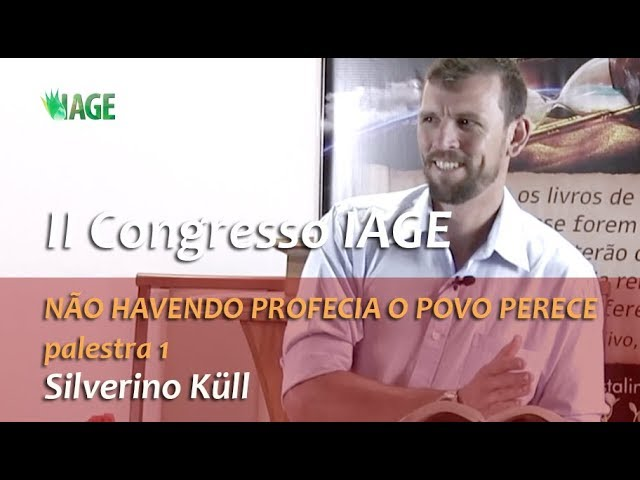 192 - II CONGRESSO IAGE - PALESTRA 01 - SILVERINO KÜLL