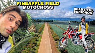 Riding Motorcycles Inside Philippines Largest Pineapple Field (Bukidnon, Northern Mindanao)