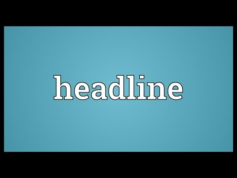 what does headline mean on dating sites