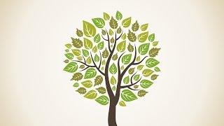 #2 Дизайн стрим. Векторная иллюстрация. CorelDraw. Дерево и зимний лес