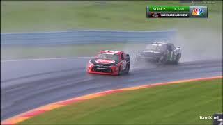 Nascar Xfinity Drivers In The Rain At The Glen 2018 & Miller Crash