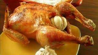 """Как приготовить """"Курицу, запеченную на соли с чесноком"""" Рецепт."""
