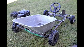 Homemade 200cc Go Kart WHEELBARROW !? Part 1
