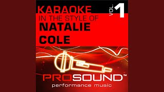 I Live For Your Love (Karaoke Instrumental Track) (In the style of Natalie Cole)