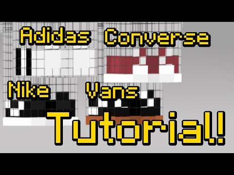 How To Make Adidas, Nike, Vans, And Converse Sneakers On Your Minecraft Skin