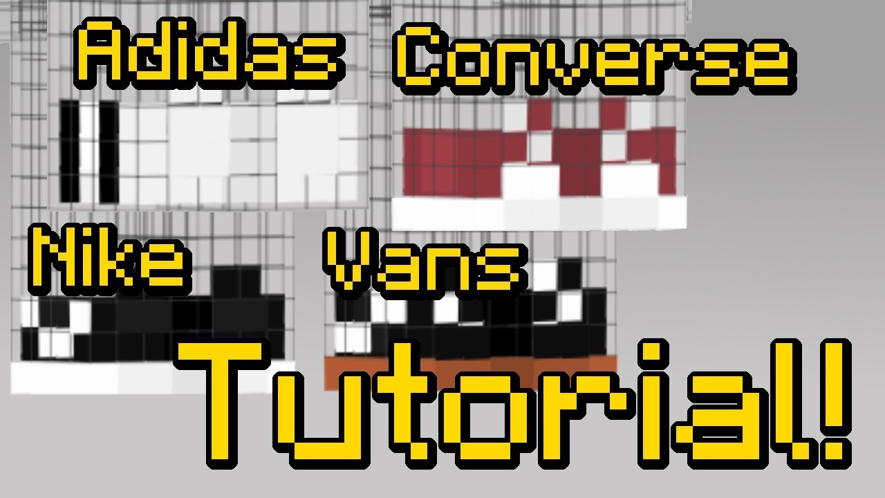How To Make Adidas Nike Vans And Converse Sneakers On Your - Nike skins fur minecraft