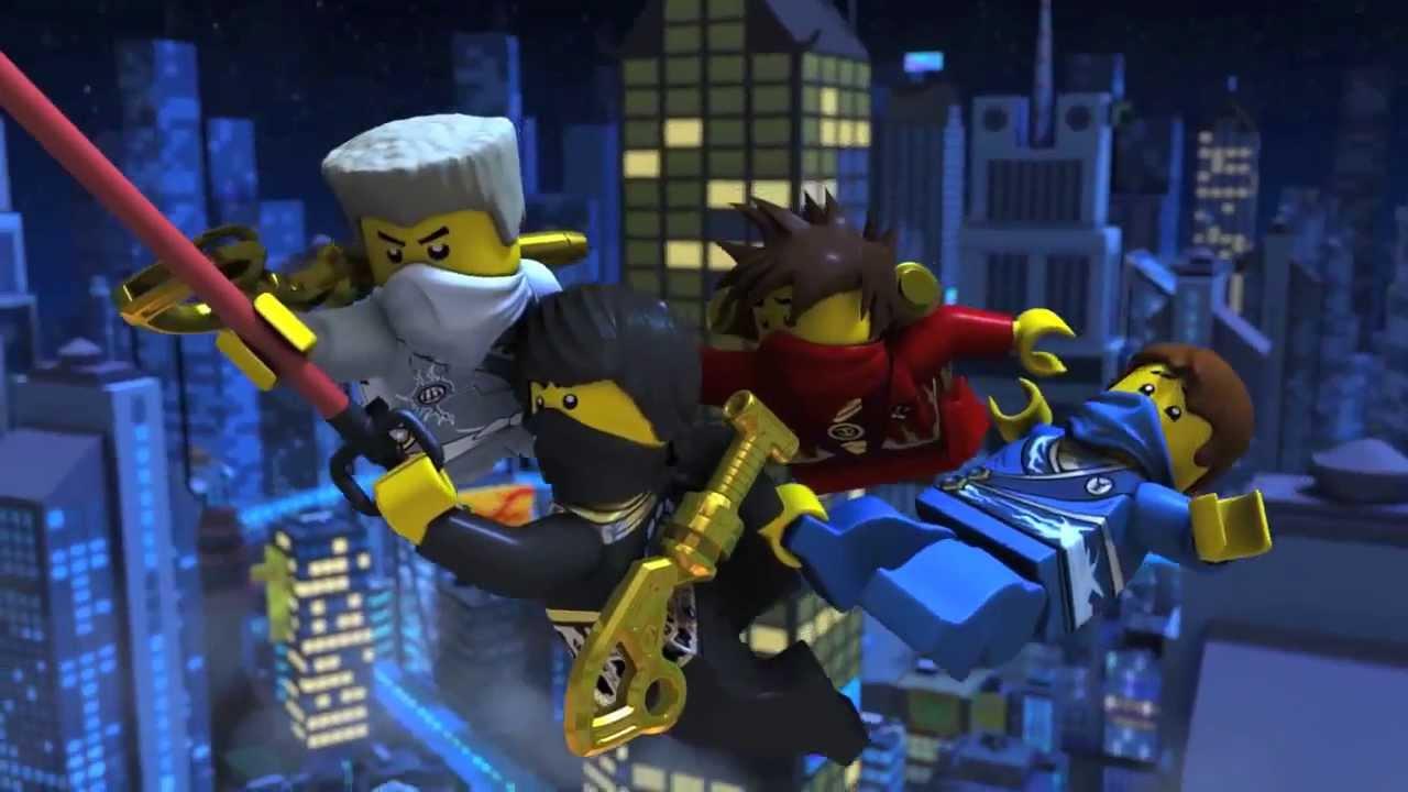 lego ninjago all 5 ninjas movie trailer