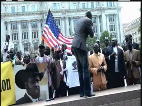 SOUTH SUDANESE COMMUNITY IN U.S  WELCOME PRESIDENT SALVA KIIR MAYARDIT IN WASHINGTON DC