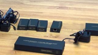 4 Way HDMI Splitter Over Ethernet (CAT5 / CAT6)