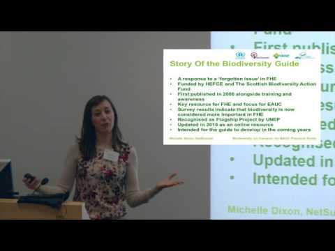 EAUC Biodiversity Event – Michelle Dixon, NetSustain