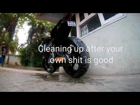 How to Clean Your Drive Chain The Indian Way.(Using dish wash)