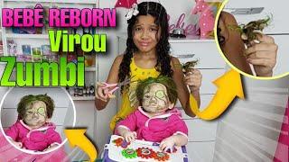 Обложка на видео - DIA DE SPA COM A MINHA BEBÊ REBORN !! MINHA MÃE CORTOU O CABELO DELA (ELA VIROU ZUMBI!)