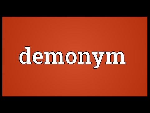 Demonym Meaning