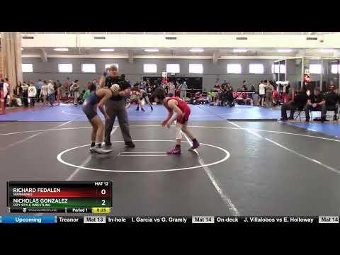 UWW Cadet Freestyle 41-45 KG Richard Fedalen Warhawks Vs Nicholas Gonzalez Izzy Style Wrestling