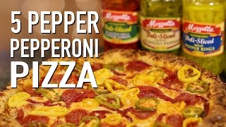 5 Pepper Pepperoni Pizza Pie Please