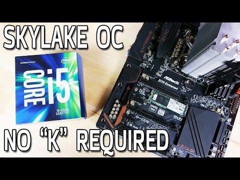 Skylake Non-K CPU Overclocking with an i5-6500