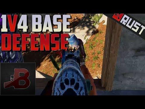 1v4 Base Defense - Rust