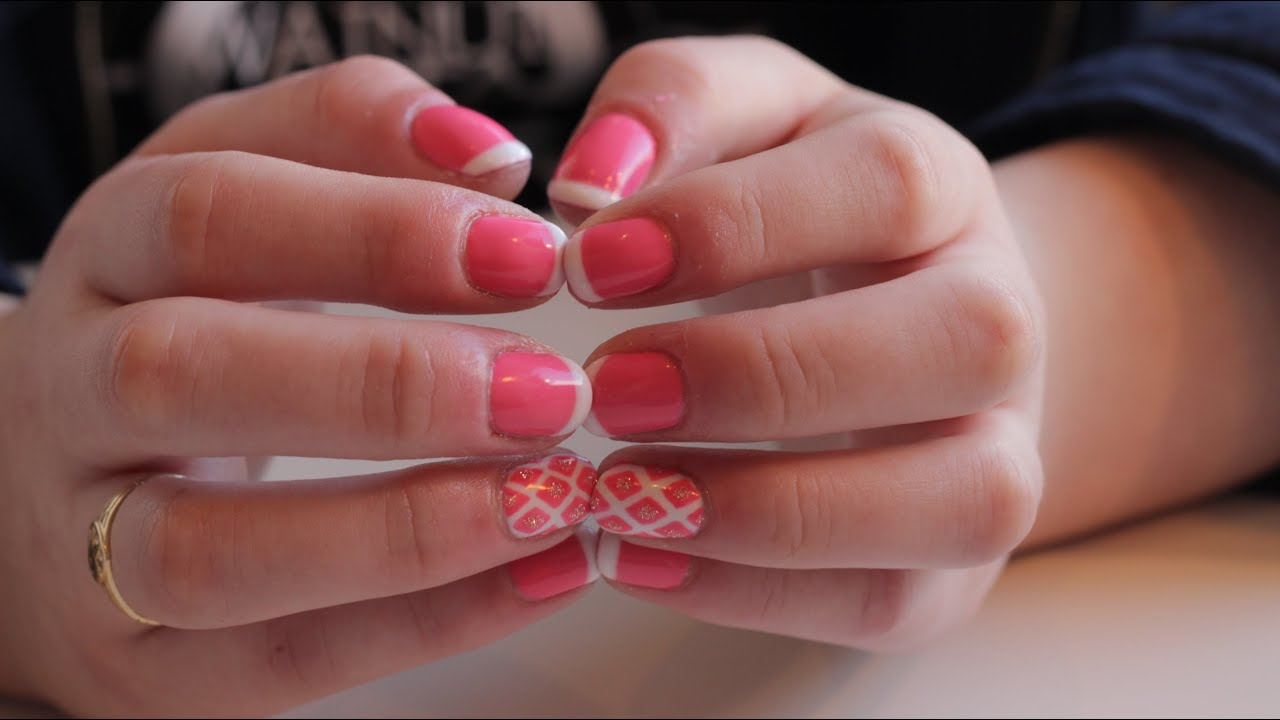 How to do French Nails with Gel Polish - Salon Secrets - YouTube